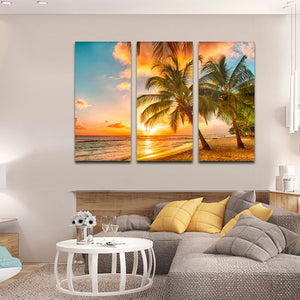 Barbados Island Multi Panel Canvas Wall Art - Beach