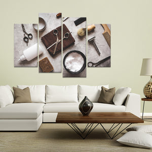 Barber Shop Multi Panel Canvas Wall Art - Hair