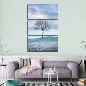Barren Tree Multi Panel Canvas Wall Art - Nature