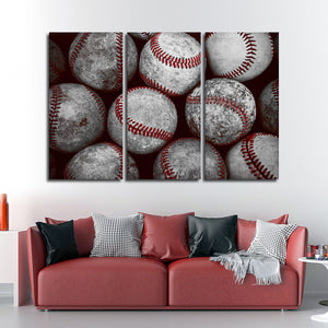 Baseball Pop Multi Panel Canvas Wall Art - Baseball