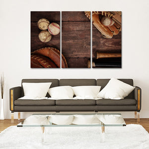 Baseball Memories Multi Panel Canvas Wall Art - Baseball