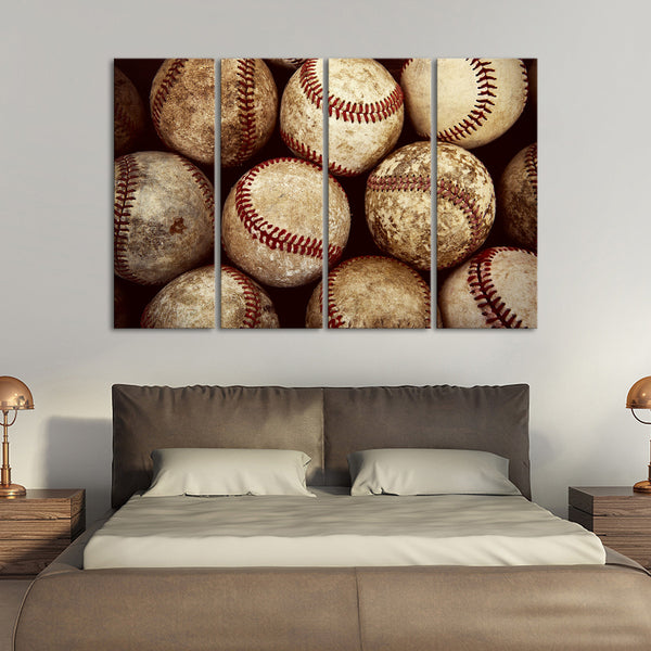 Charmant BaseBall Multi Panel Canvas Wall Art