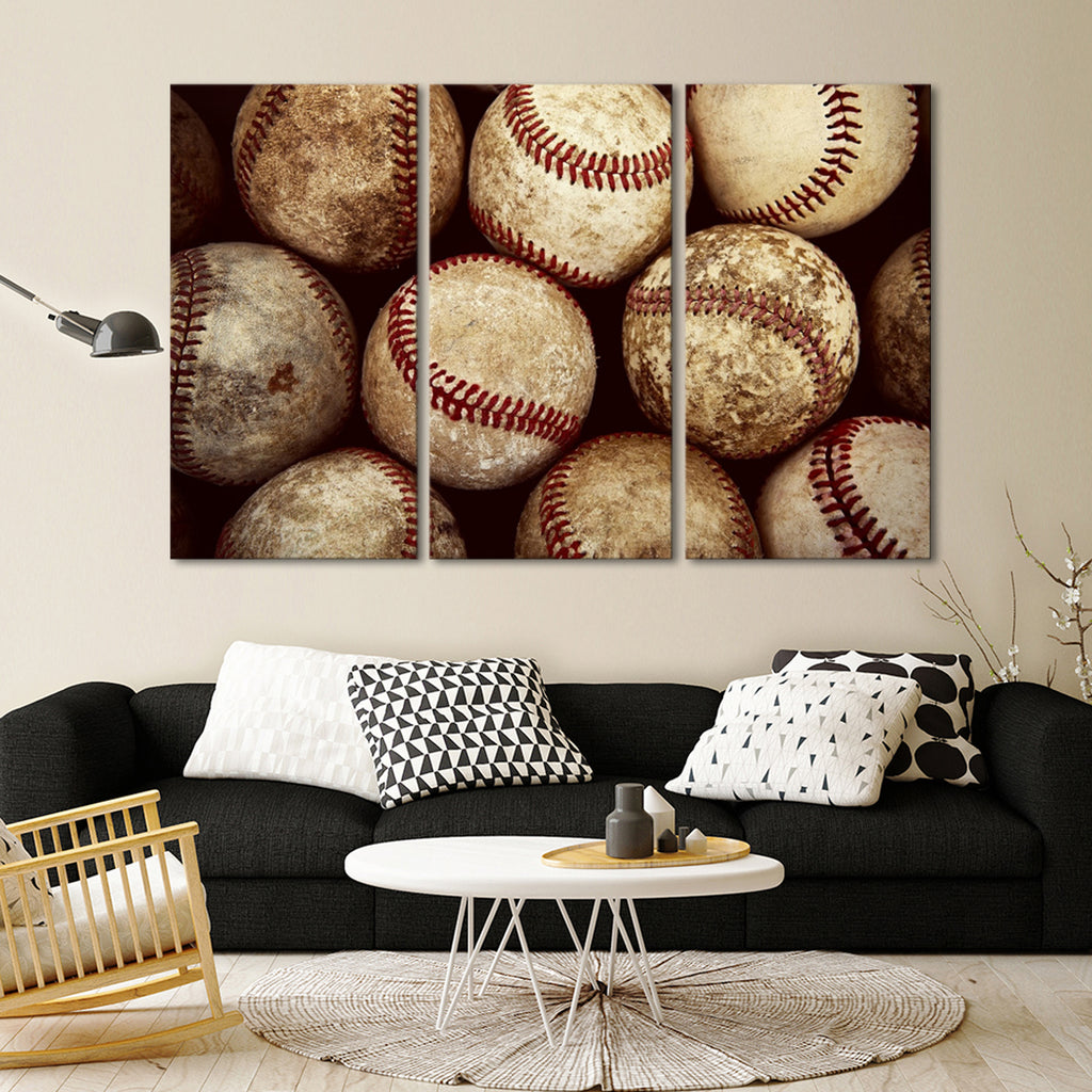 BaseBall Multi Panel Canvas Wall Art | ElephantStock