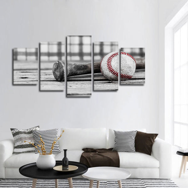 Baseball Practice Pop Multi Panel Canvas Wall Art