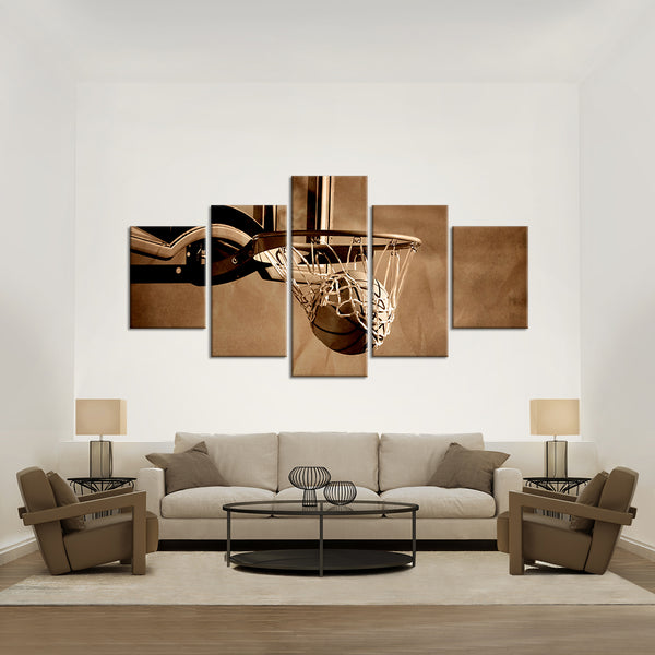 Basket Multi Panel Canvas Wall Art