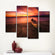 Basking In The Sunset Multi Panel Canvas Wall Art