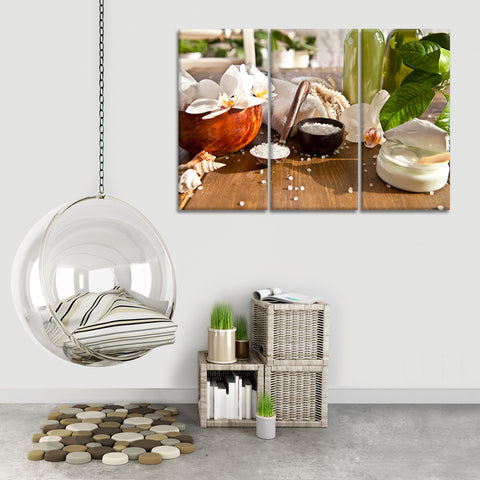 Bath Salt Multi Panel Canvas Wall Art