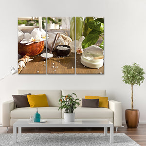 Bath Salt Multi Panel Canvas Wall Art - Spa