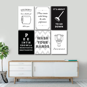 Bathroom Humor Canvas Set Wall Art - Inspiration