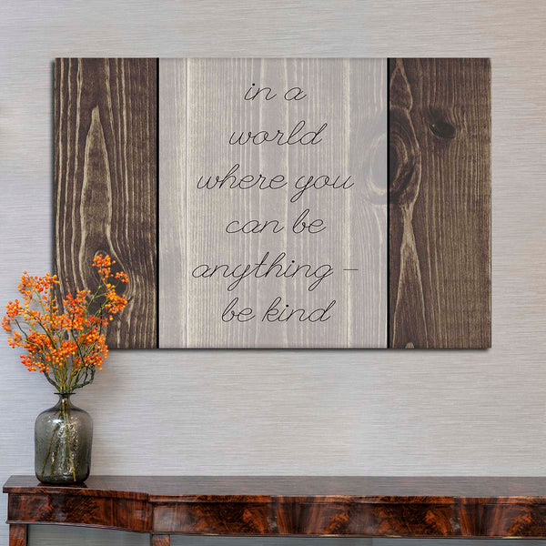 Be Kind Canvas Wall Art