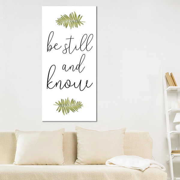 Be Still And Know Canvas Wall Art