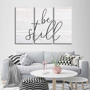 Be Still Multi Panel Canvas Wall Art - Inspiration