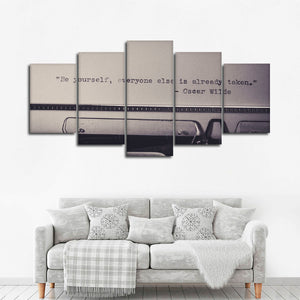 Be Yourself Multi Panel Canvas Wall Art - Inspiration