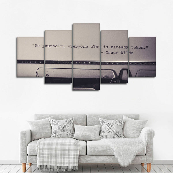 Be Yourself Multi Panel Canvas Wall Art