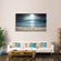 Beach At Twilight Multi Panel Canvas Wall Art