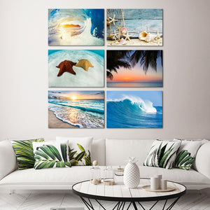 Beach Combo Canvas Set Wall Art - Beach