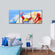 Beach Toys Multi Panel Canvas Wall Art