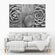 Beautiful Cacti BW Multi Panel Canvas Wall Art