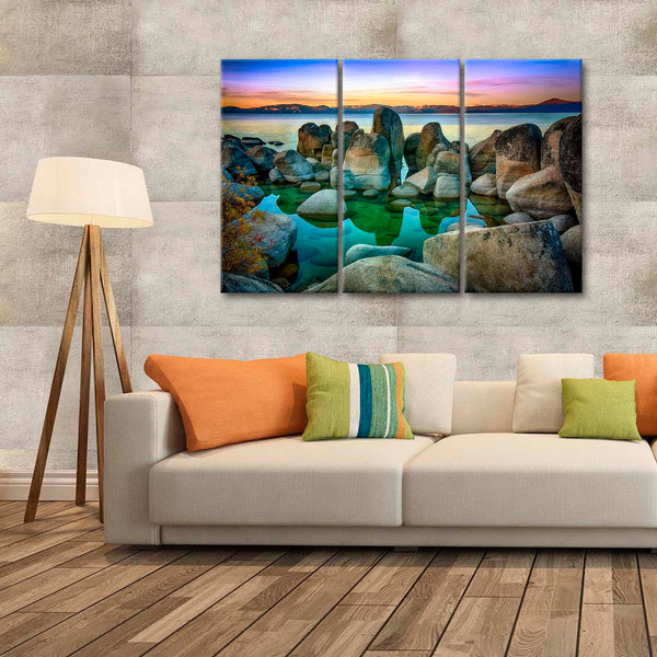 Beautiful Lake Tahoe Multi Panel Canvas Wall Art