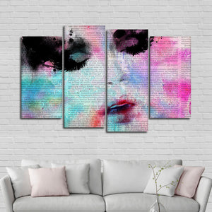 Beauty Guru Multi Panel Canvas Wall Art - Portrait