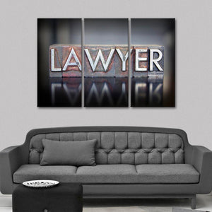 Become a Lawyer Multi Panel Canvas Wall Art - Law