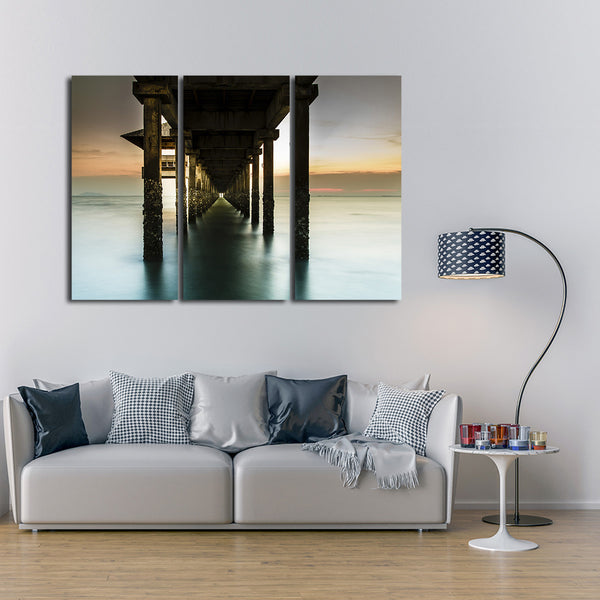 Below the Pier Multi Panel Canvas Wall Art