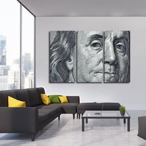 Benjamin Franklin Multi Panel Canvas Wall Art - Professionals
