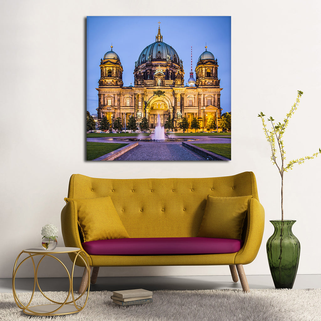 berlin cathedral multi panel canvas wall art elephantstock. Black Bedroom Furniture Sets. Home Design Ideas