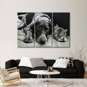 Best Friends Multi Panel Canvas Wall Art - Dog