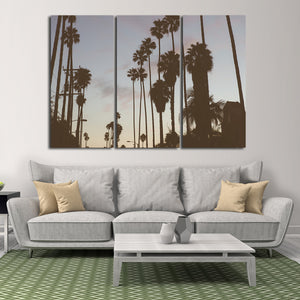 Beverly Hills Palms Multi Panel Canvas Wall Art - City