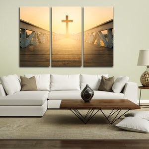 Beyond the Cross Multi Panel Canvas Wall Art - Religion