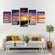 Beyond The Sunset Multi Panel Canvas Wall Art