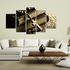 Bible Multi Panel Canvas Wall Art - Religion