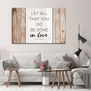 Bible Verse Canvas Wall Art - Religion