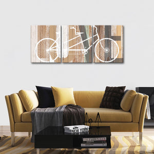 Bicycle Love Multi Panel Canvas Wall Art - Shabby_chic