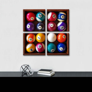 Billiards Balls Multi Panel Canvas Wall Art - Billiard