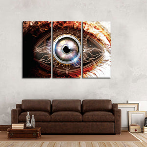 Bionic Eye Multi Panel Canvas Wall Art - Hi_tech