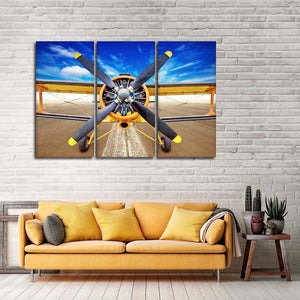 Biplane Multi Panel Canvas Wall Art - Airplane