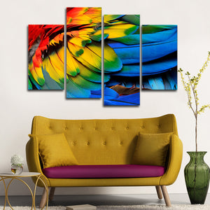 Bird Feathers Multi Panel Canvas Wall Art - Bird