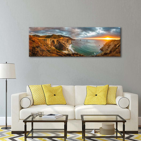Bixby Canyon Multi Panel Canvas Wall Art