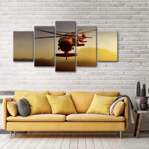 Black Hawk Multi Panel Canvas Wall Art - Army