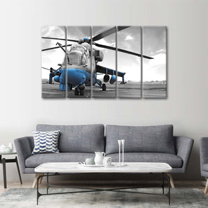 Black Hawk Pop Multi Panel Canvas Wall Art - Army