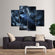 Black Raven Multi Panel Canvas Wall Art