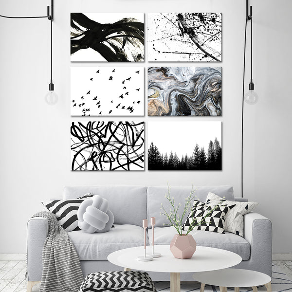 Abstract Combo Canvas Set Wall Art