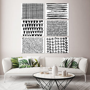 Abstract Patterns Canvas Set Wall Art - Abstract