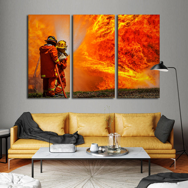 Blaze Of Fire Multi Panel Canvas Wall Art