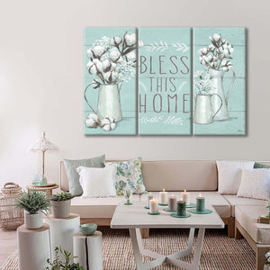 Blessed I Mint Multi Panel Canvas Wall Art - Inspiration