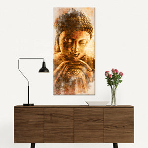 Blissful State Multi Panel Canvas Wall Art - Buddhism