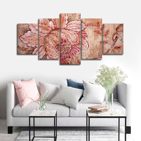 Blooming Imagination Multi Panel Canvas Wall Art