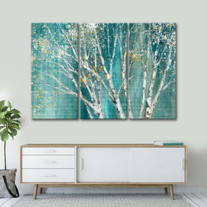 Blue Birch Multi Panel Canvas Wall Art - Nature